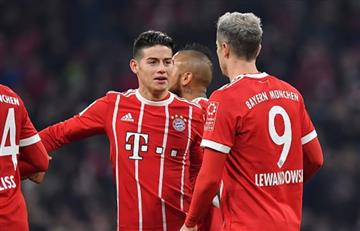 James Rodríguez suma otra asistencia y el Bayern Múnich golea