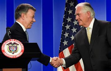 Recursos para venezolanos en Colombia, una posibilidad que analiza Tillerson y Santos