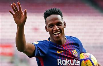 Yerry Mina debuta en la victoria del Barcelona y jugará la final de la Copa del Rey