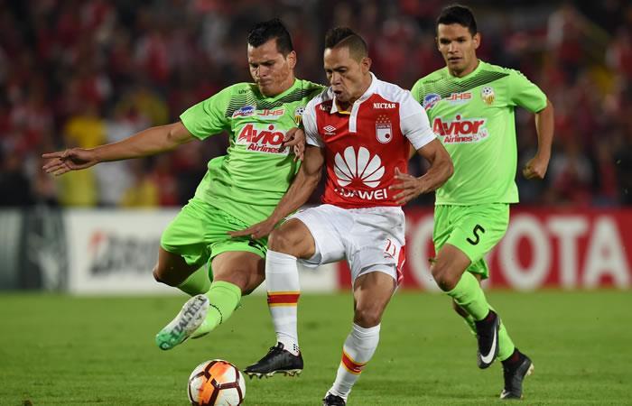 Libertadores: Santa Fe igualó sin goles frente a Táchira y avanza en la copa