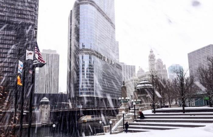 Chicago bajo la tormenta invernal. Foto. AFP.