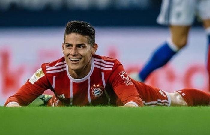 James Rodríguez volvió a jugar con el Bayern Múnich y ganó al Shalke