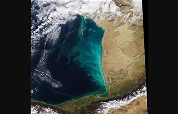 NASA: Captura impresionante proceso inusual en el mar Caspio