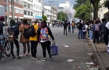 Bogotá: Fuertes protestas se registran afuera de la Universidad Pedagógica