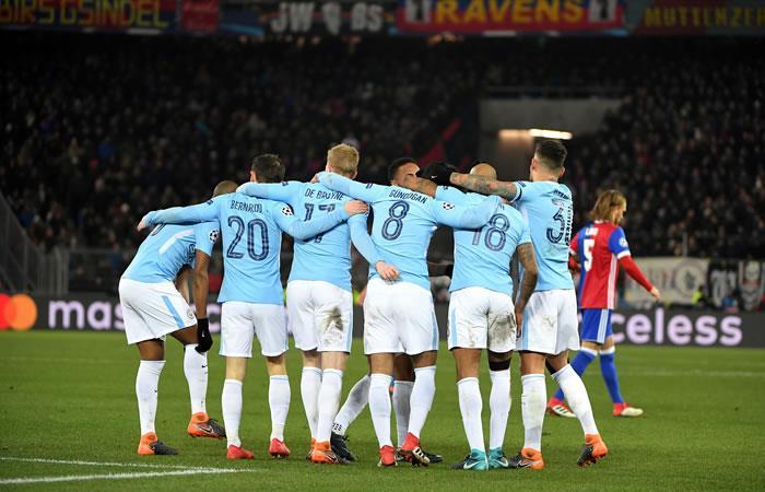 Manchester City goleó al Basel y ya tiene un pie en los cuartos de final