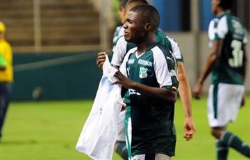 Deiber Caicedo anotó y entre lágrimas le dedicó el gol a su hermana fallecida