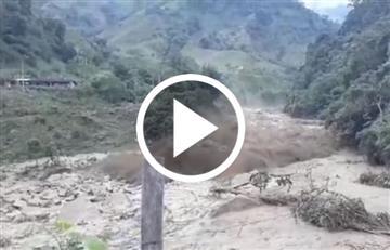 Video de una impactante avalancha en Antioquia genera temor en la comunidad