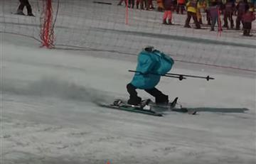 Video: Robots se toman la pista de esquí en los Juegos Olímpicos de Invierno