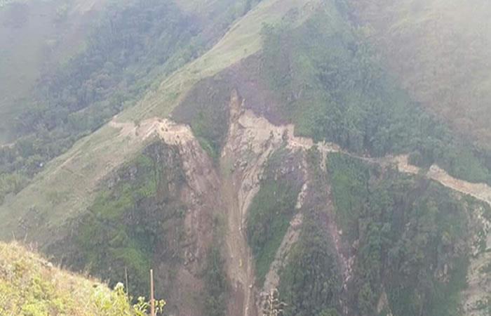 Derrumbe en Simacota deja un muerto y tres heridos