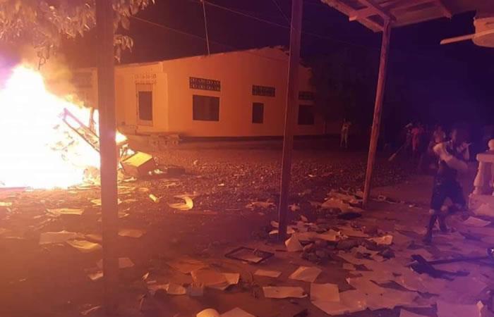 Habitantes de Unguía, Chocó, queman la Alcaldía