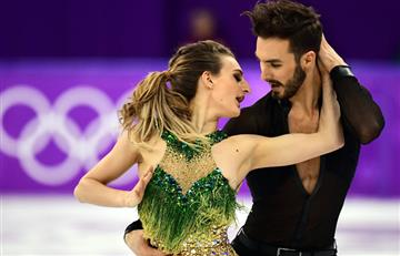 A Patinadora francesa se le rompe el vestido y deja ver todo en los Olímpicos