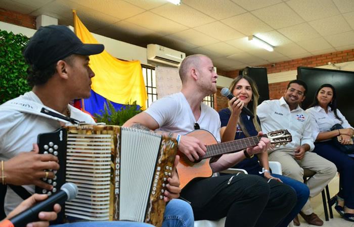 El famoso cantante de vallenato islandés, conoce Valledupar