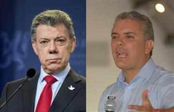 """Juan Manuel Santos: """"Es ridículo lo que dice Duque sobre la FARC y Uribe"""""""