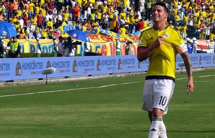 James Rodríguez. Foto: AFP