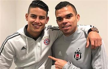 James Rodríguez feliz de volver a ver a Pepe