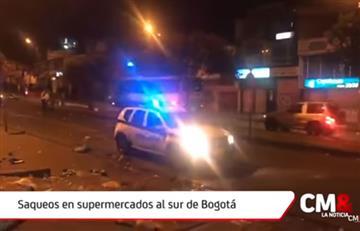 Los disturbios y saqueos a supermercados se trasladaron al sur de Bogotá