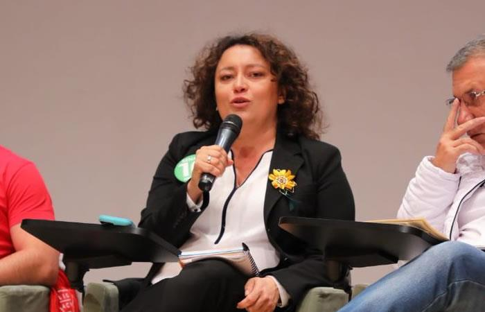 Angélica Lozano puso en su sitio al liberal Mauricio Gómez
