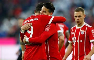 El Bayern de James empató ante un duro Hertha