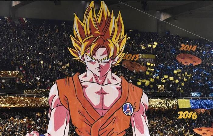 Dragon Ball Z presente en el partido del PSG ante Olympique de Marsella