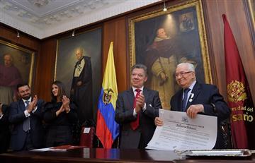 Santos le reconoce a Belisario Betancur no interferir con sus sucesores