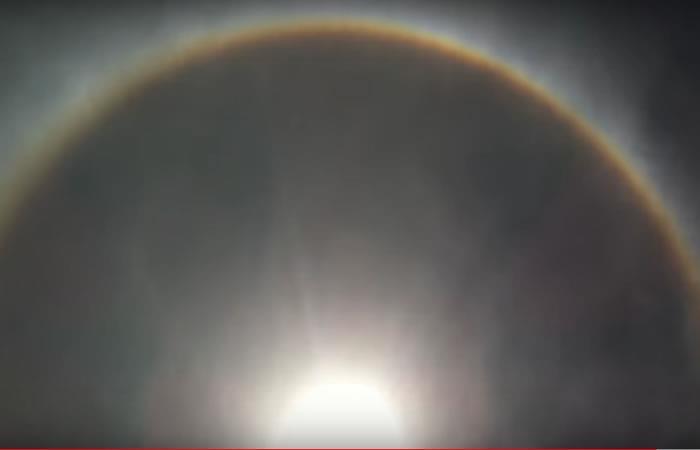 Video: Dos anillos alrededor del Sol sorprenden a los brasileños