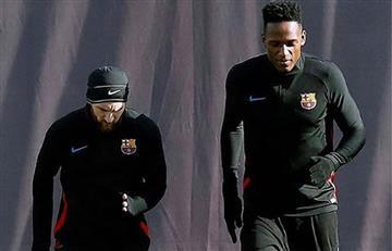 """Yerry Mina: """"Me ha tocado enfrentar a Messi, pero es un crack"""""""