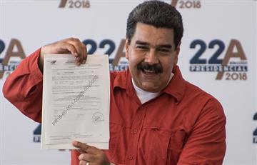 Nicolás Maduro inscribe su candidatura y confía asegurar reelección