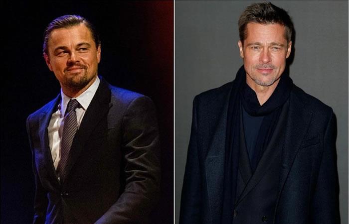 Leonardo DiCaprio y Brad Pitt. Foto: AFP