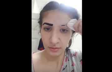 Viral: Mujer pierde las cejas luego de usar tintura que compró por Internet