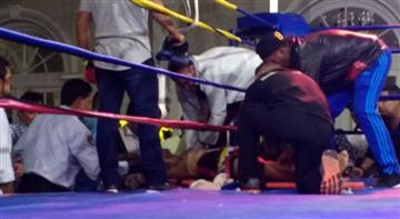 Boxeador en cuidados intensivos tras un combate