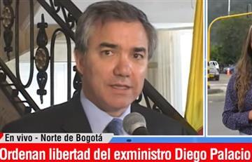 El exministro Diego Palacio recuperó su libertad
