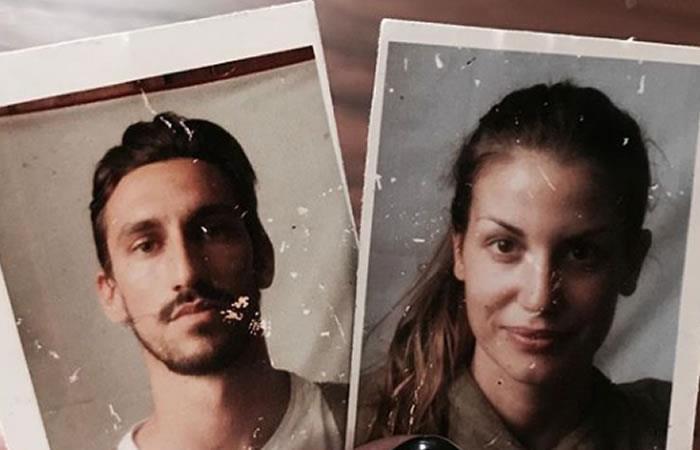 Davide Astori y su compañera de vida Francesca Fioretti