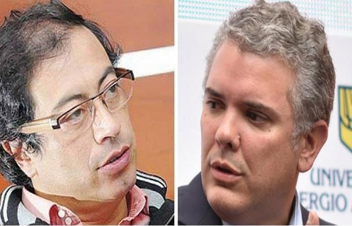 Iván Duque y Gustavo Petro lideran las encuestas