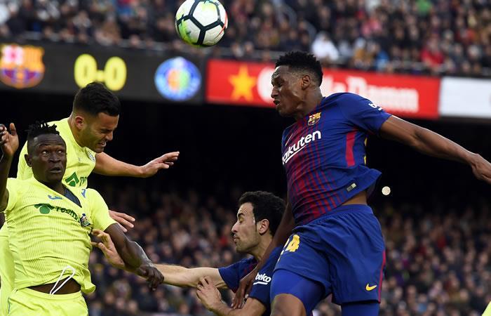 Yerry Mina titular nuevamente con el Barcelona