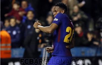 Yerry Mina nuevamente descartado por el Barcelona