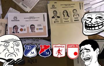 La registraduría se queda sin tarjetones y los memes futboleros se aprovechan