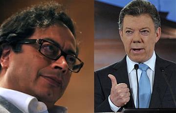 """Gustavo Petro: """"En estos días solo he recibido groserías de Juan Manuel Santos"""""""