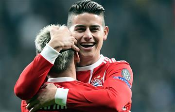 Bayern Múnich con James Rodríguez a los cuartos de final de la Champions