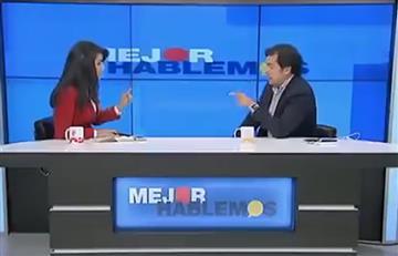 Rodrigo Lara y el agarrón que tuvo con una periodista en plena transmisión