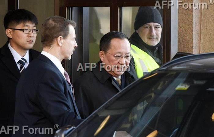 El ministro norcoreano de Relaciones Exteriores, Ri Yong Ho. Foto: AFP