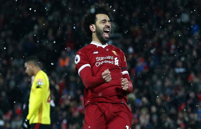 Salah con el Liverpool golea al Watford y se mete en el podio provisional