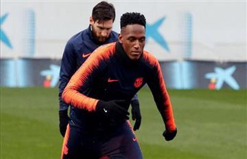 Yerry Mina entre los convocados del Barcelona para enfrentar al Athletic