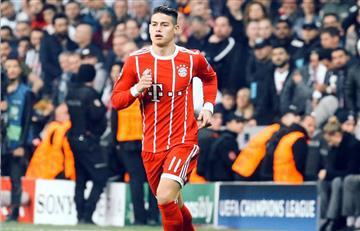 James fue titular en la derrota del Bayern ante el Leipzig