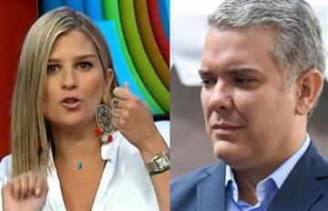 Andrea Guerrero es criticada por foto con Iván Duque