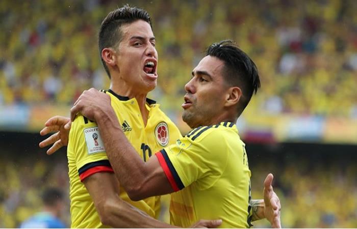 James y Falcao hablan de la victoria de Colombia ante Francia