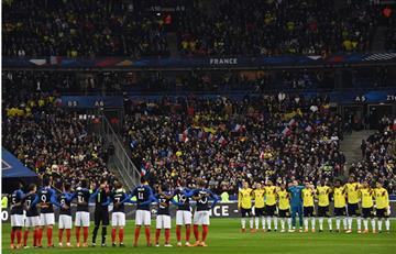 Selección Colombia: Minuto de silencio en Francia por las víctimas del atentado