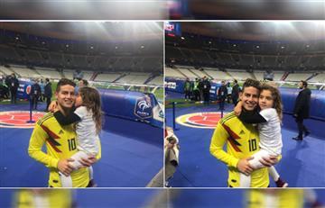 """James Rodríguez con Salomé tras ganarle a Francia, """"Eres mi inspiración"""""""