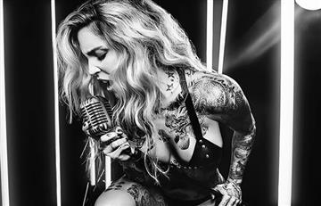 Así luce Valentina Lizcano su cuerpo tatuado en Instagram