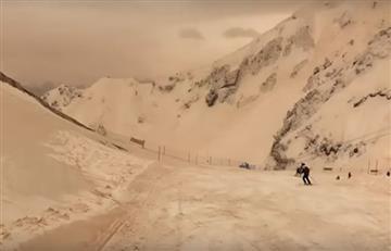 Video: Nieve amarilla y lluvia roja cayó en el sur de Rusia y Ucrania
