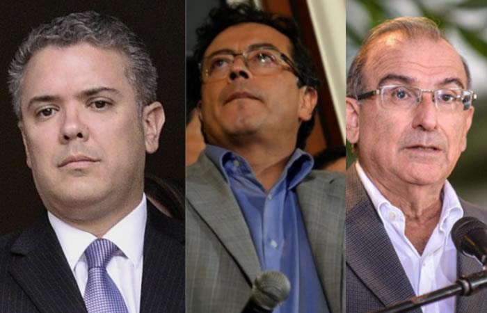 Petro, Duque y De La Calle: Un momento de mucha tensión plasmado en una foto